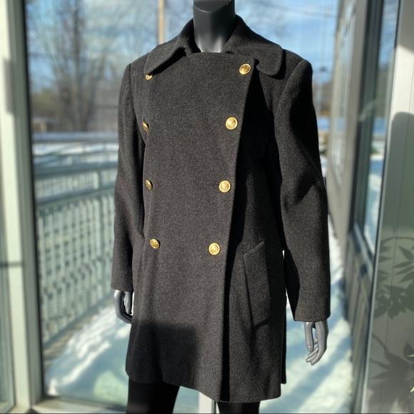 CHRISTIAN DIOR Vintage Women's Lambswool Pea Coat